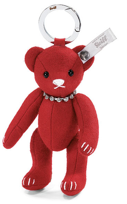 Steiff Red Felt Teddy Bear Keyring