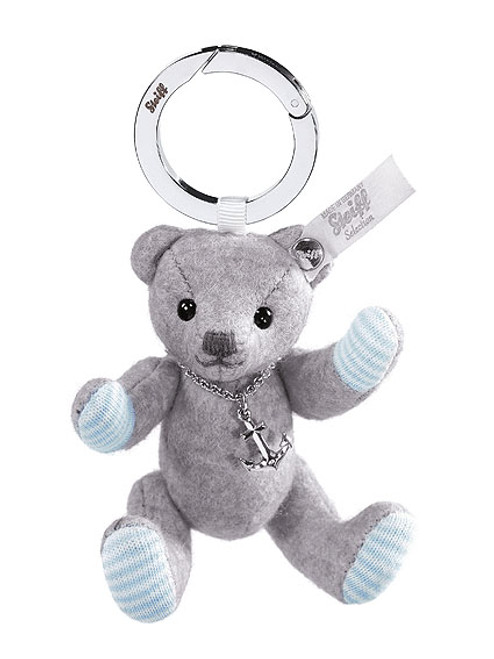 Steiff Selection Felt Teddy Bear Keyring with Anchor