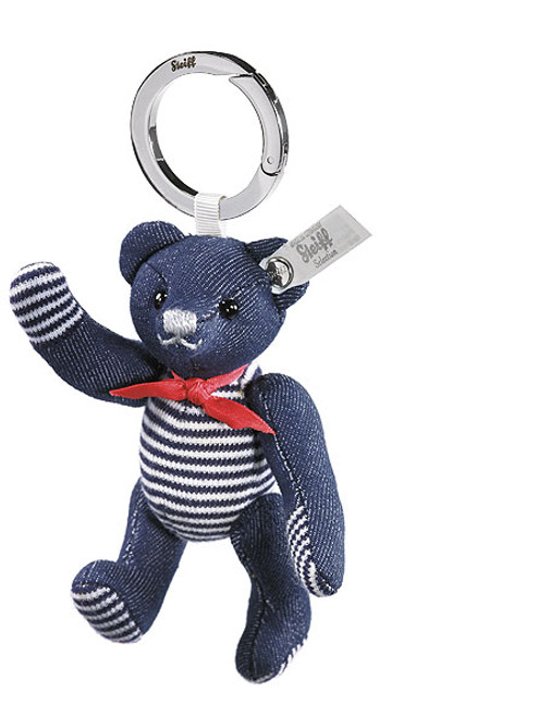 Steiff Seaside Denim Teddy Bear Keyring