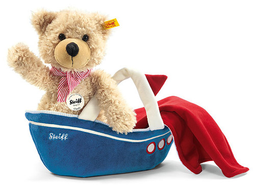STEIFF Charly dangling Teddy bear with bag