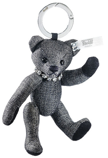 Steiff Selection Teddy Bear Graphite Keyring Enchanted Forest