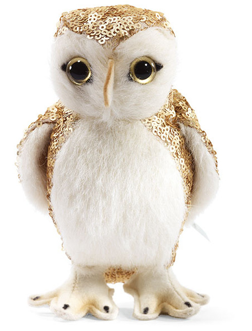 Steiff Selection Owl gold/white Enchanted Forest