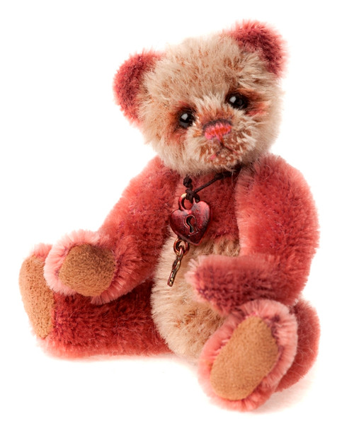 Charlie Bears Mini Mohair Keyring Slipper