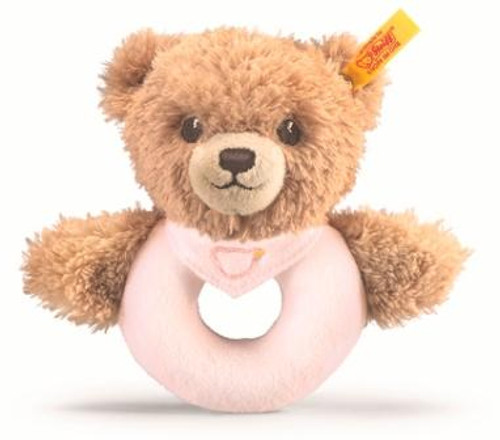 Steiff Sleep Well Pink Grip Toy
