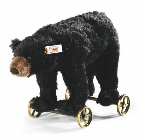 Steiff Black Bear on Wheels