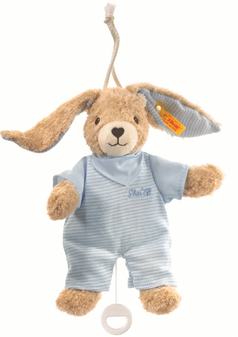 Steiff Hoppel Rabbit (Blue) with Music Box