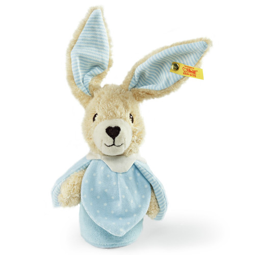 Steiff Hoppel Rabbit Grip Toy with Rustling Foil - 240140