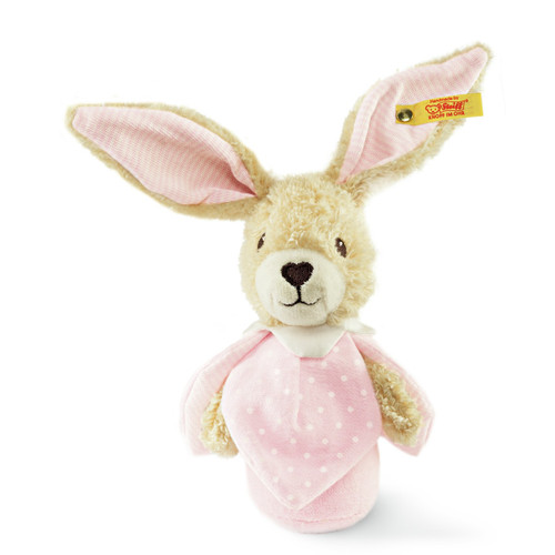 Steiff Hoppel Rabbit Grip Toy with Rustling Foil - 240157