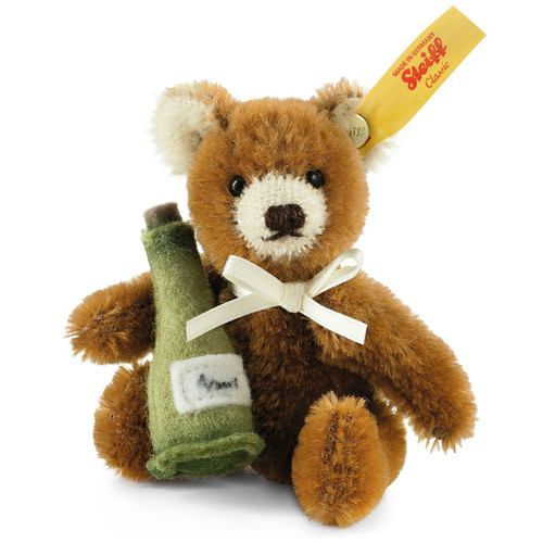 Steiff Mini Teddy Bear Champagne Bottle - 028908