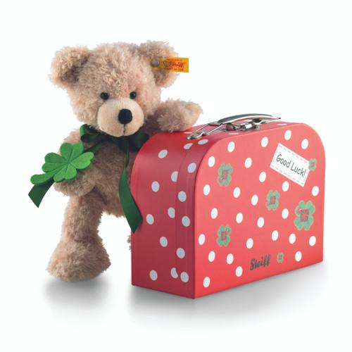Steiff Good Luck Fynn Teddy Bear in a Suitcase - 114007