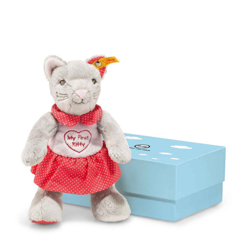My First Steiff Cat with Rustling Foil in Gift Box - 241031