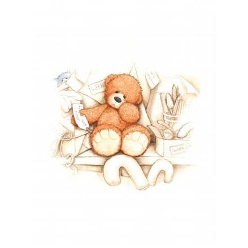 Alice's Bear Shop Art Prints Little Lost Bear