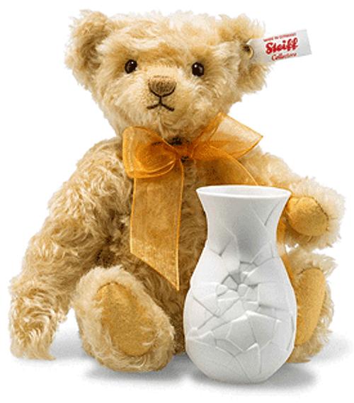 Steiff Sunflower Teddy Bear with Vase - 006753