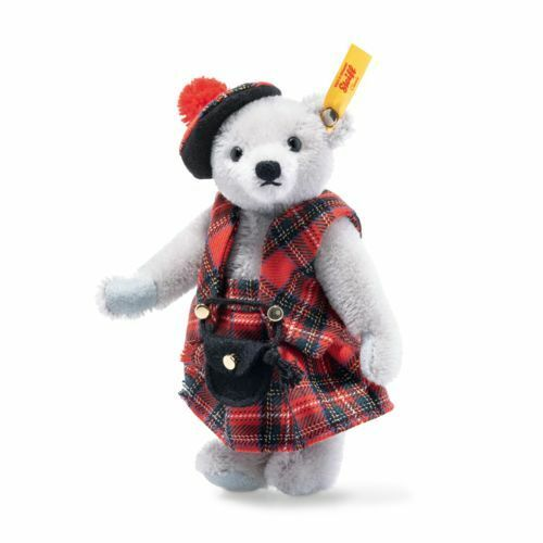 Steiff Great Escapes Edinburgh Teddy Bear in Gift Box - 026911