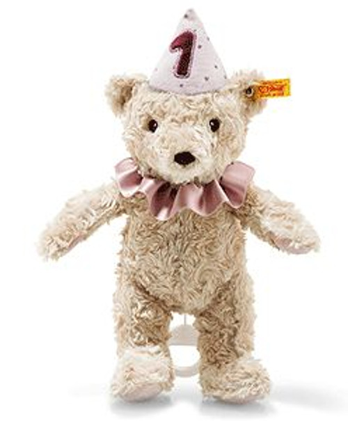Steiff First Birthday Girl Teddy Bear with Misic Box