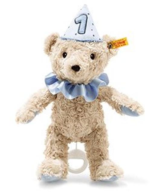Steiff First Birthday Boy Teddy Bear with Music Box - 240881