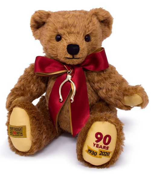 Merrythought 's 90th Anniversary Commemorative Teddy Bear - MAJ13A90