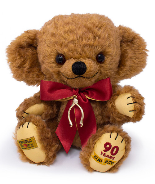 Merrythought's 90th Anniversary Commemorative Cheeky Bear - T12A90