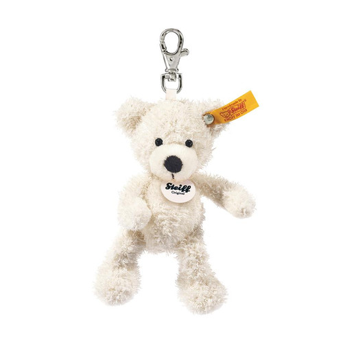 Steiff White Lotte Teddy Bear Keyring - 111785