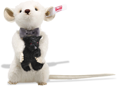 Steiff Peky Mouse with Teddy Bear - 006852