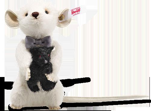Steiff Peky Mouse with Teddy Bear - 006852