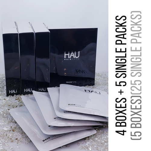 Hair Pack Gift Bundle 25 Packs (4 Boxes + 5 Single Packs)
