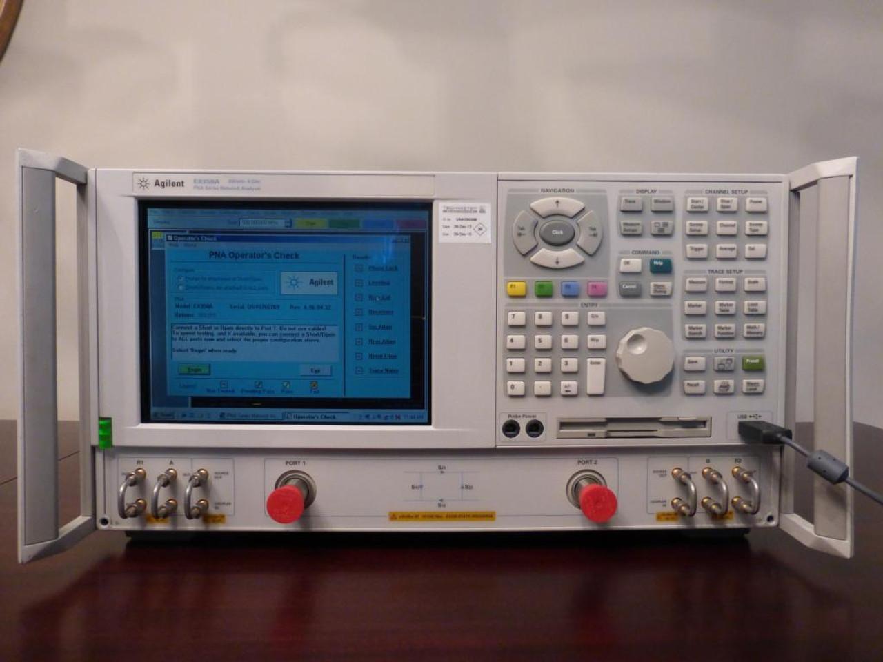Agilent PNA E8358A 300kHz - 9GHz, 2 Port, 4 Reciever RF Vector Network  Analyzer