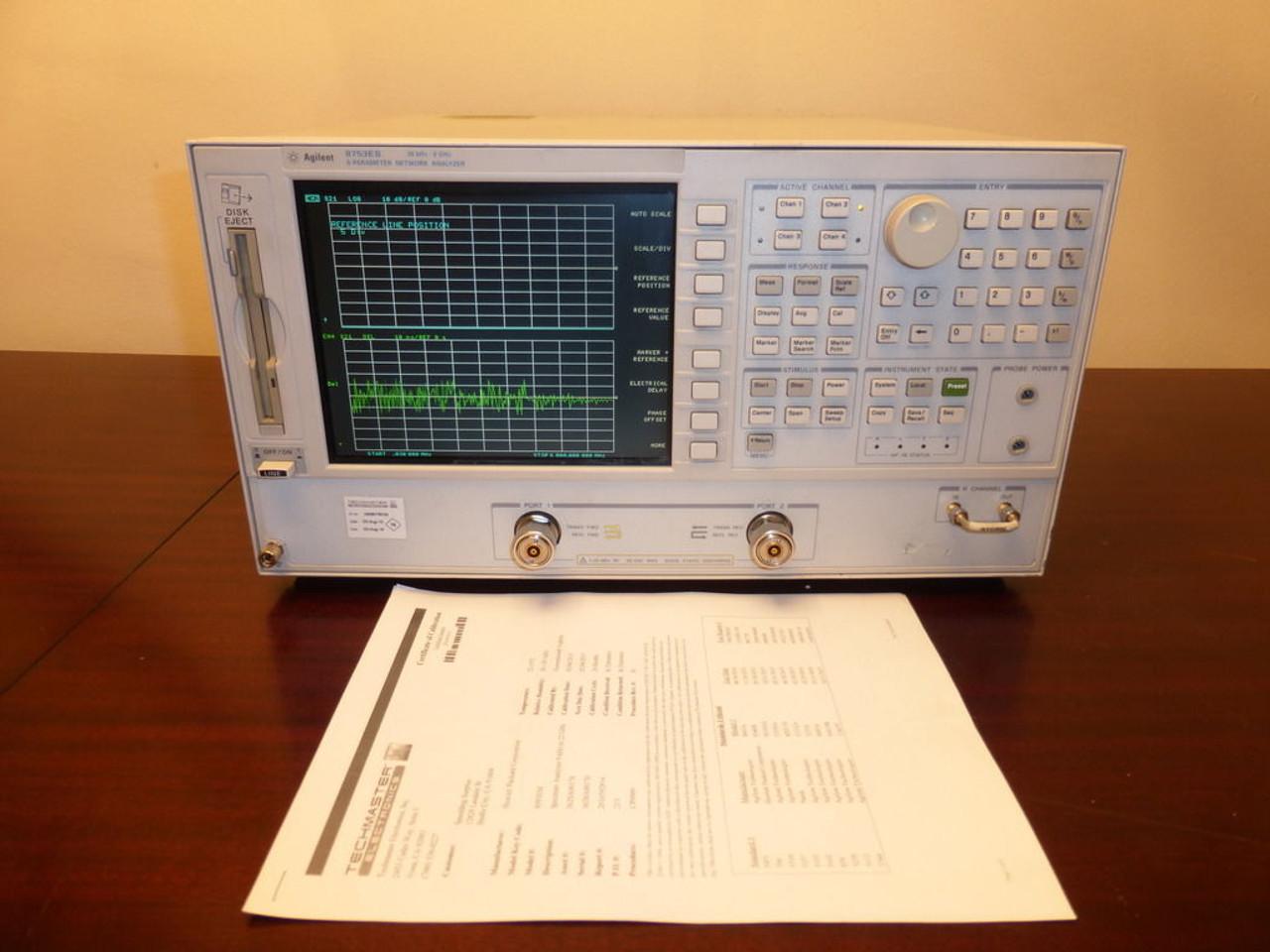 Agilent 8753ES 30 kHz to 6 GHz Vector Network Analyzer w/ Opts  002/006/010/1D5