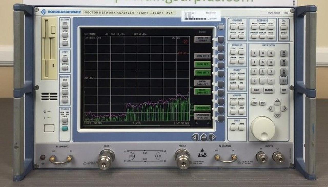 Rohde Schwarz ZVK 10 MHz - 40 GHz Vector Network Analyzer - LOADED &  CALIBRATED!