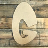Block letter G are extra large wooden letters for walls.