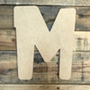 Block letter M are paintable unfinished wood wall letters.
