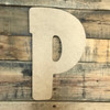 Block letter P look awesome with big wooden numbers.