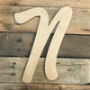 Large Decorative wooden letters are cursive paintable wooden wall letters for the home.