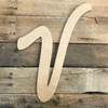 Standing wood letters to paint come as unpainted letters for wall.