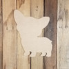 Corgi Dog, Paintable Shape, Unfinished Cutout, Craft Wood