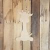 Sitting Giraffe, Paintable Shape, Unfinished Cutout, Craft Wood