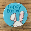Happy Easter Bunny Circle Cutout, Unfinished Shape, Paint by Line