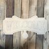Welcome Seasonal Set Wood Cutout, Unfinished Shape, Paint by Line
