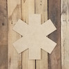 Ambulance Star Wooden Shape, Paintable Wooden MDF