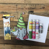 Gnome Holding Flowers Paint Kit, Video Tutorial and Instructions