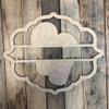 Flip Flops, Paint by Line Name Frame - Unfinished DIY Craft