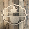 Pineapple, Paint by Line Name Frame - Unfinished DIY Craft