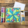 Quilt Pattern 4 Paint Kit, Video Tutorial and Instructions