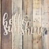 Wooden Connected Word, Hello Sunshine Alphabet Paintable DIY
