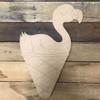 Flamingo Cone, Wood Cutout, Shape Paint by Line
