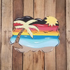 Beach Plaque Wooden Shape, Wall Art, Wood Cutout, Paint by Line