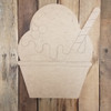 Ice Cream Sundae, Paint By Line, Engraved Summer Art Craft