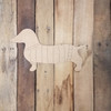 Dachshund Weenie Dog With Sweater, Paint By Line, Engraved Cutout