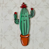 Smiling Cactus Wooden Shape,  Wall Art, Wood Cutout, Paint by Line