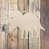 Triceratops Dinosaur Cutout, Wooden Shape, Paintable MDF